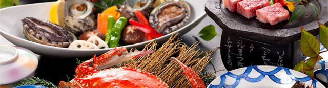 新鮮な地元食材を使用した料理