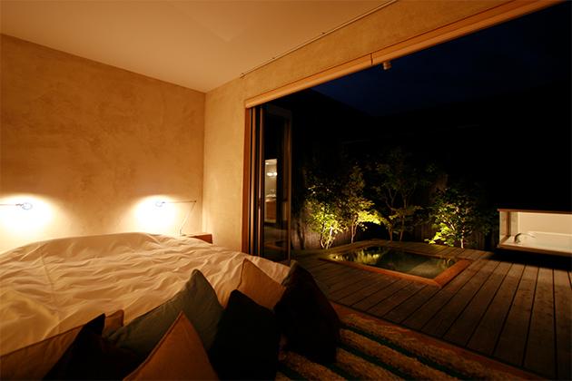 スタースイート寝室(夜)