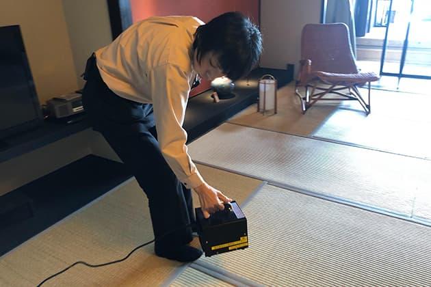 毎日チェックイン前に、客室をオゾン殺菌のイメージ